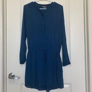 VINCE shirred shirt dress- Sz Small